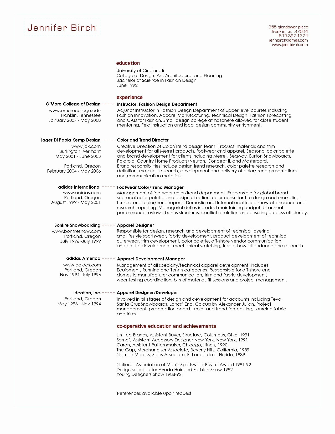 2 Page Resume format - Acting Resume format Fresh Actors Resume format Awesome Two Page