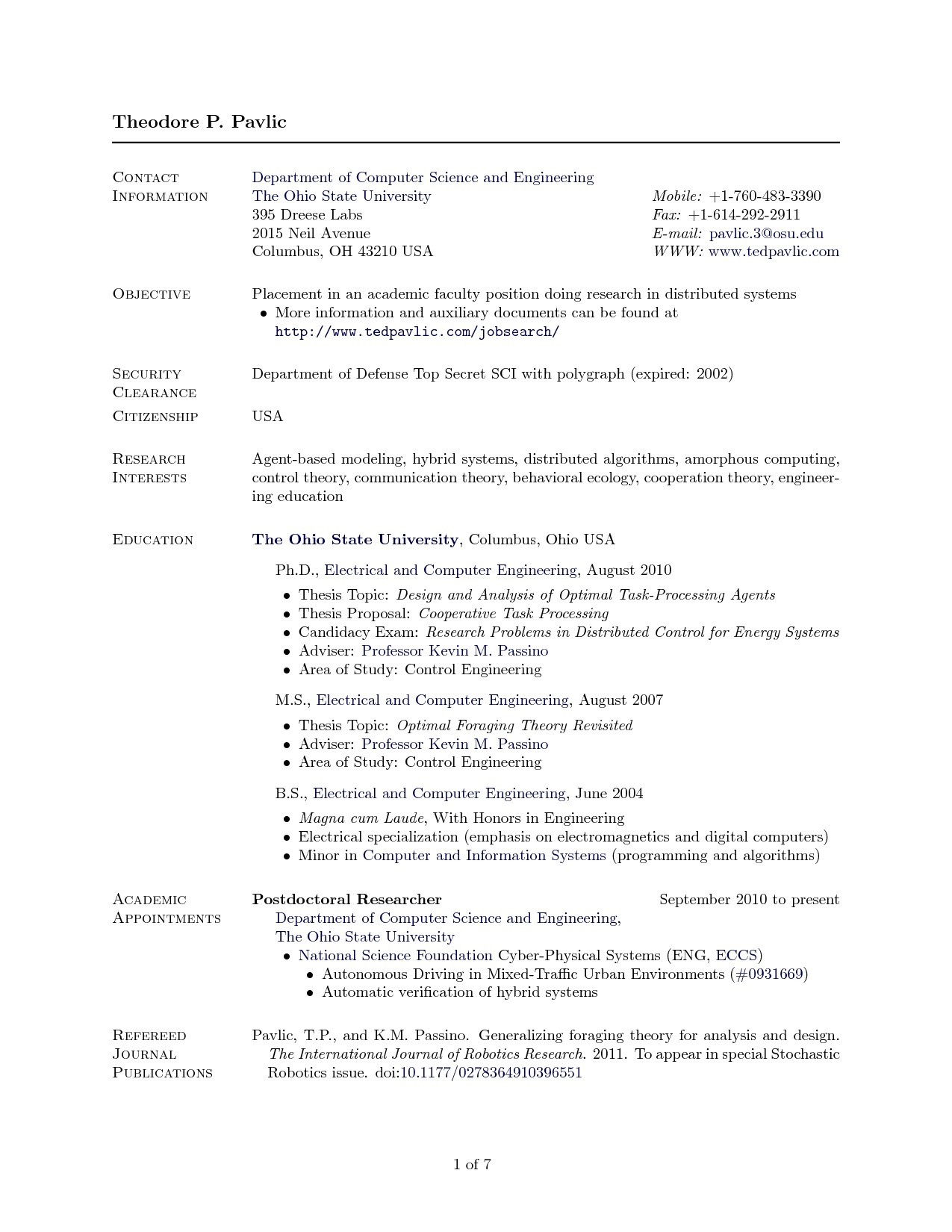 Academic Resume Template Latex - 19 Elegant Latex Template Resume