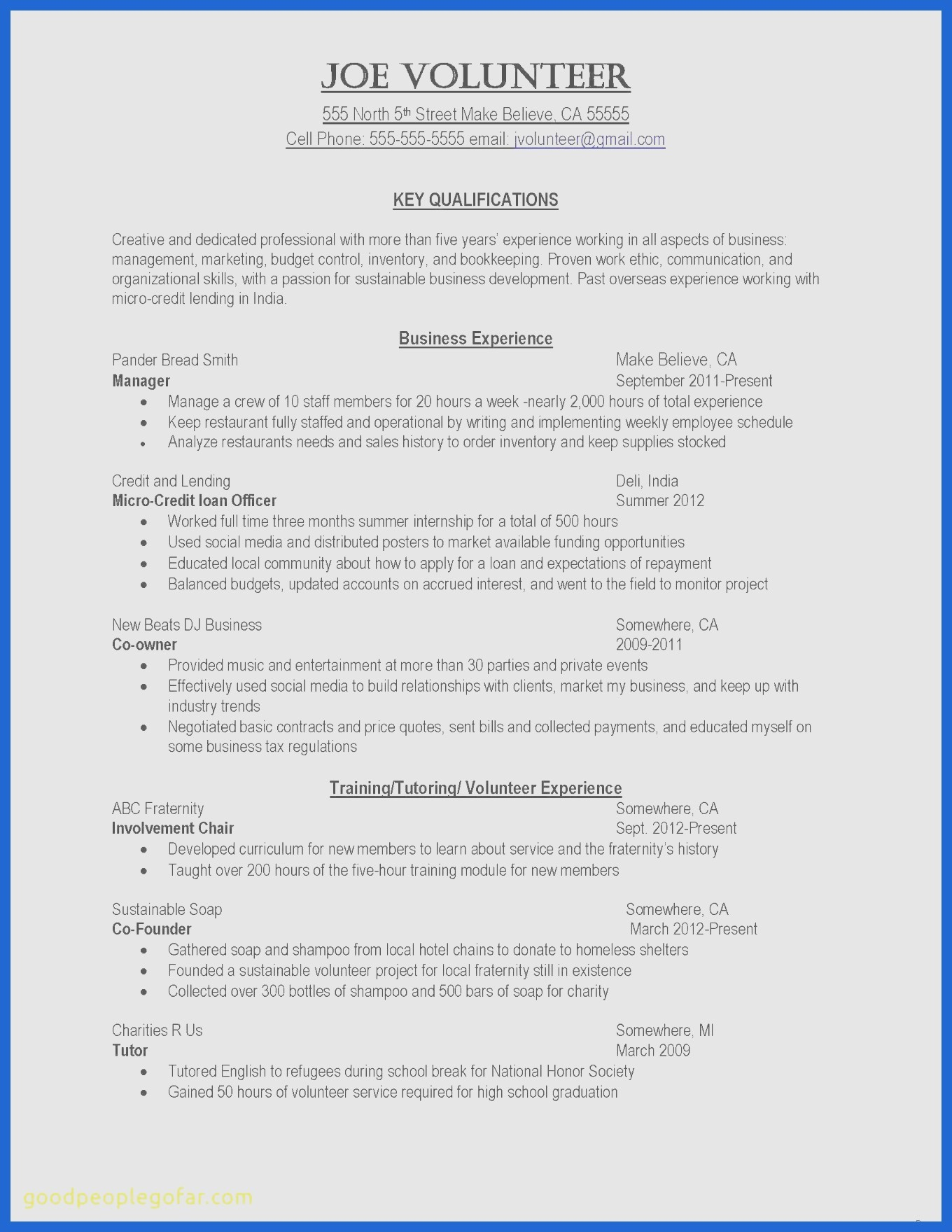 Academic Resume Template Latex - Cv Resume Template Latex Fresh Resume format for Volunteer Work