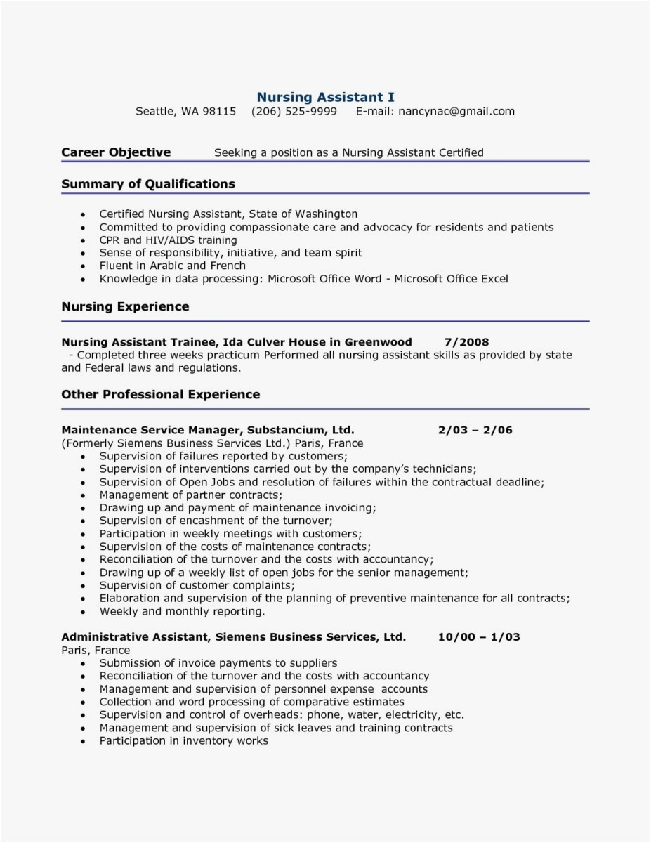 Accounting Resume Objective - Best Objective for Resume New Template Best Sample College