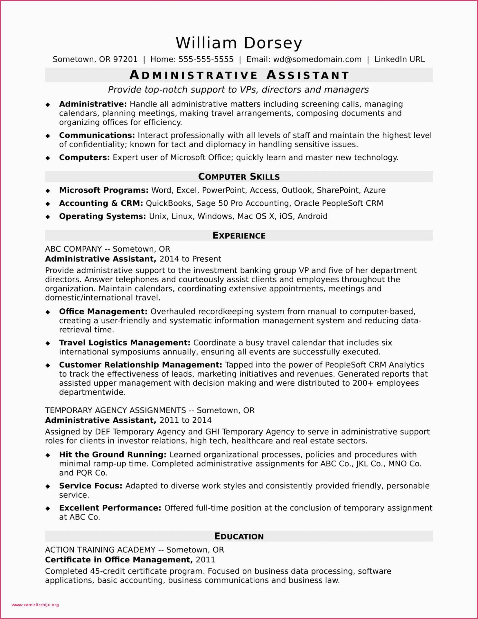 Accounting Resume Template Word - Accountant Resume Example Resume for Accountant Resume for