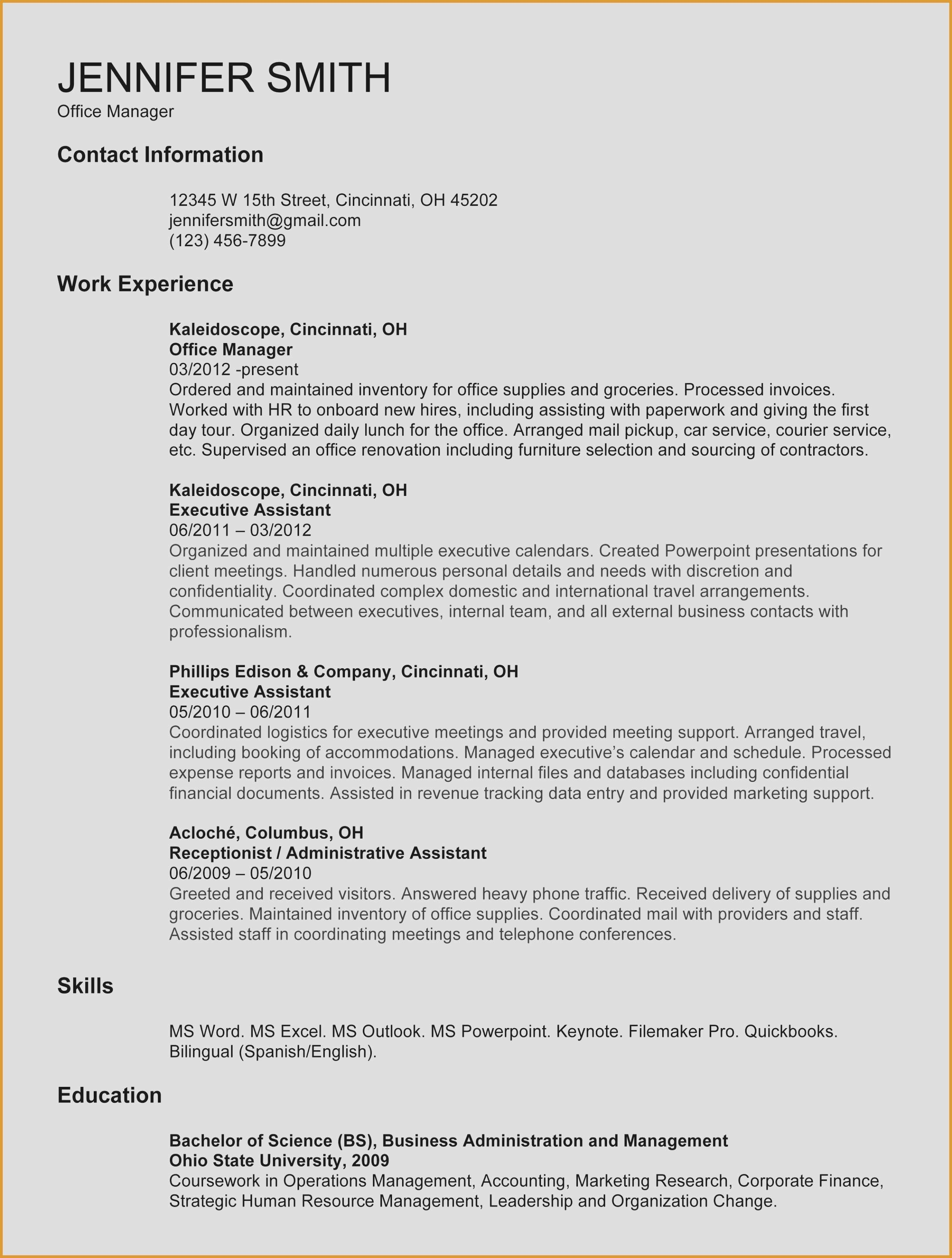 Accounting Resume Template Word - Accounting Resume Template Elegant Resume 52 New Cv Templates Full