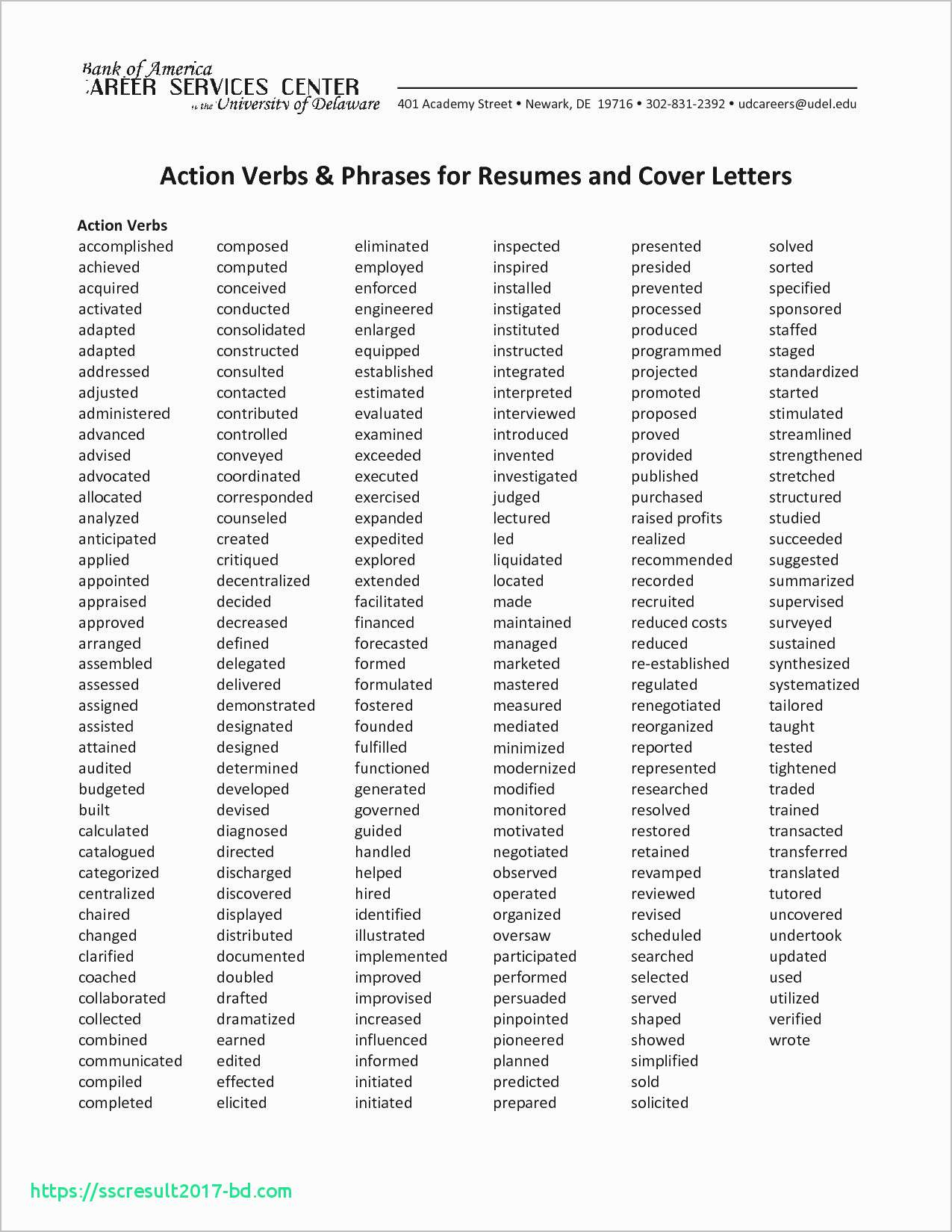 action verbs for resume Collection-Action Words for Cover Letters Beautiful Resume Action Verbs Beautiful What is Resume Fresh Bsw Resume 4-l
