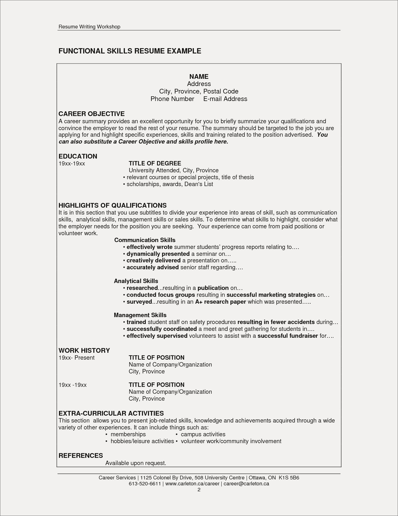 Activities to Put On Resume - Skills and Abilities to Put A Resume Refrence Resume Skills and