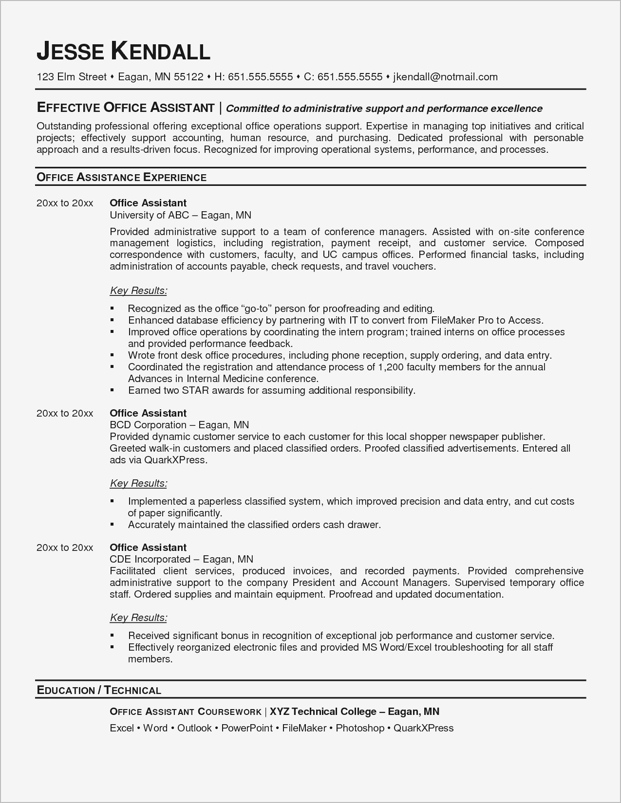 Administrative assistant Resume Template Microsoft Word - Executive assistant Resumes Unique Resume Template Executive