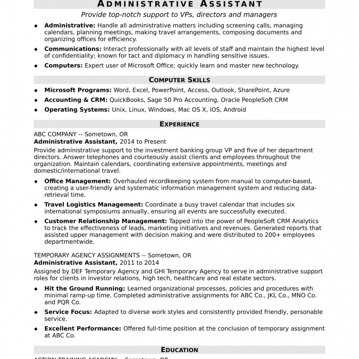 Administrative assistant Resume Template Microsoft Word - Azure Resume Pretty Resume Template Executive assistant Beautiful