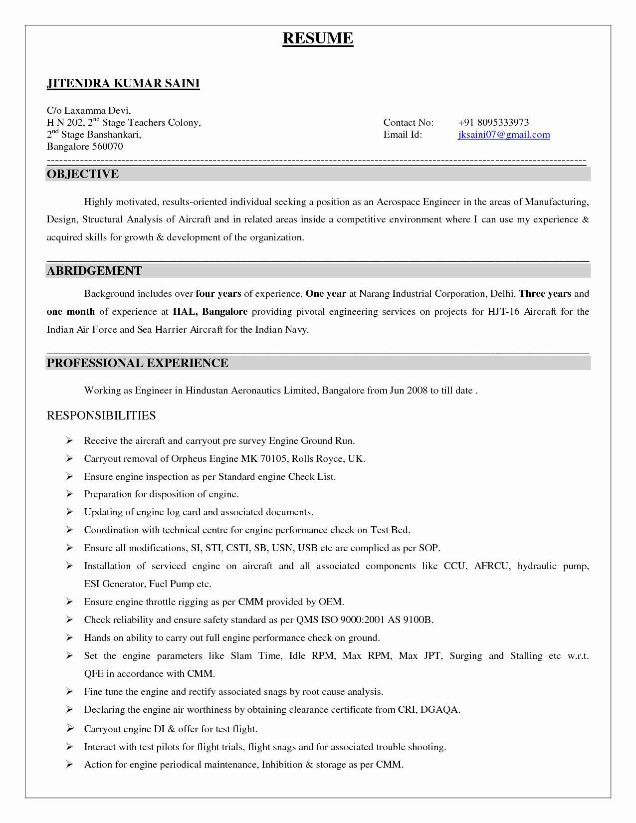 Aerospace Engineer Resume - 17 Aerospace Engineer Resume
