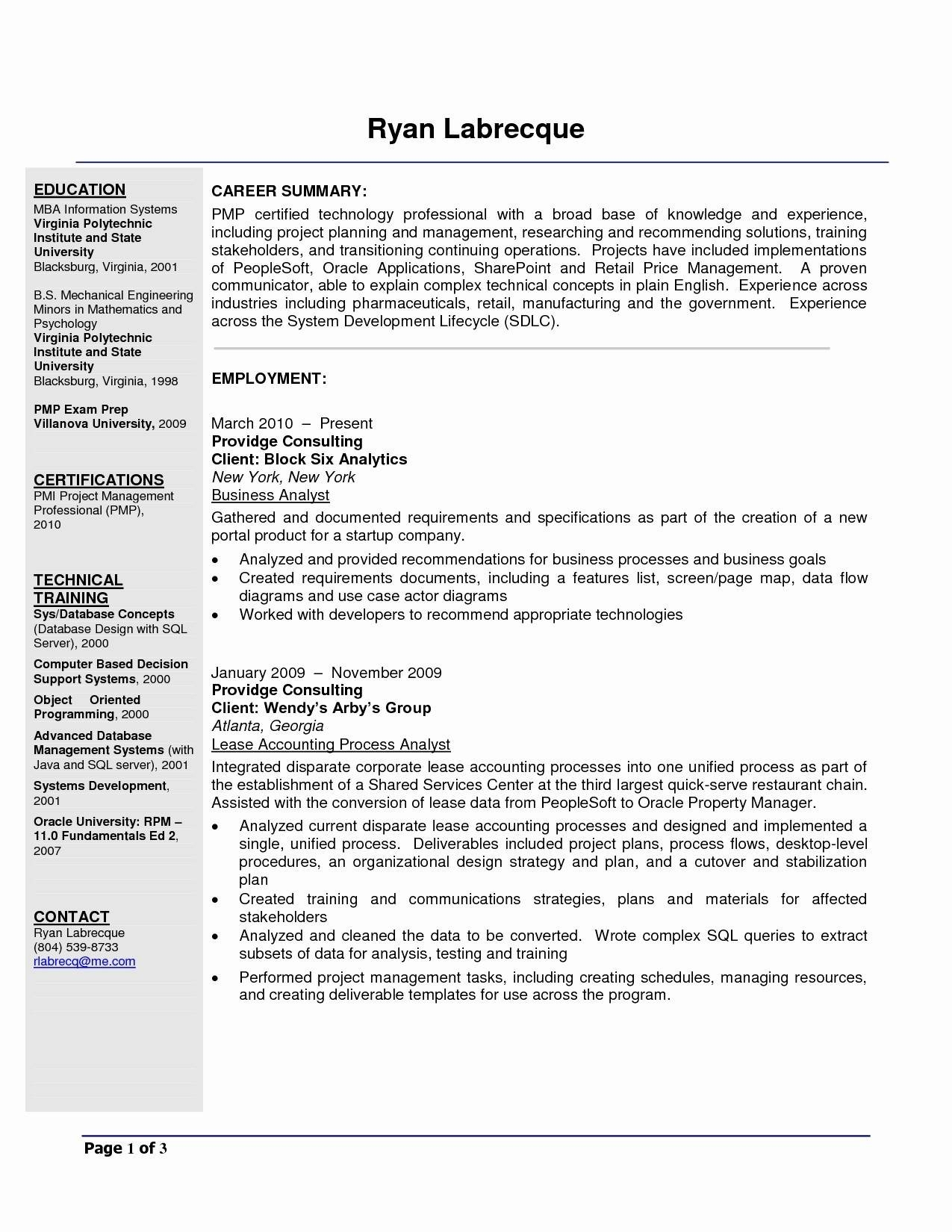 Agile Business Analyst Resume - Agile Business Analyst Resume
