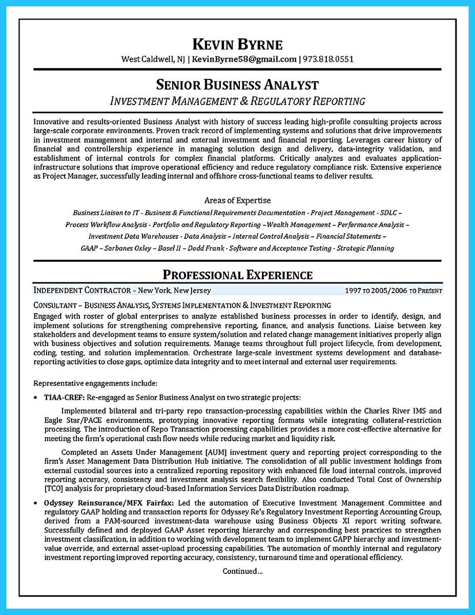Agile Business Analyst Resume - How to Write A Business Analyst Resume Project Analyst Resume