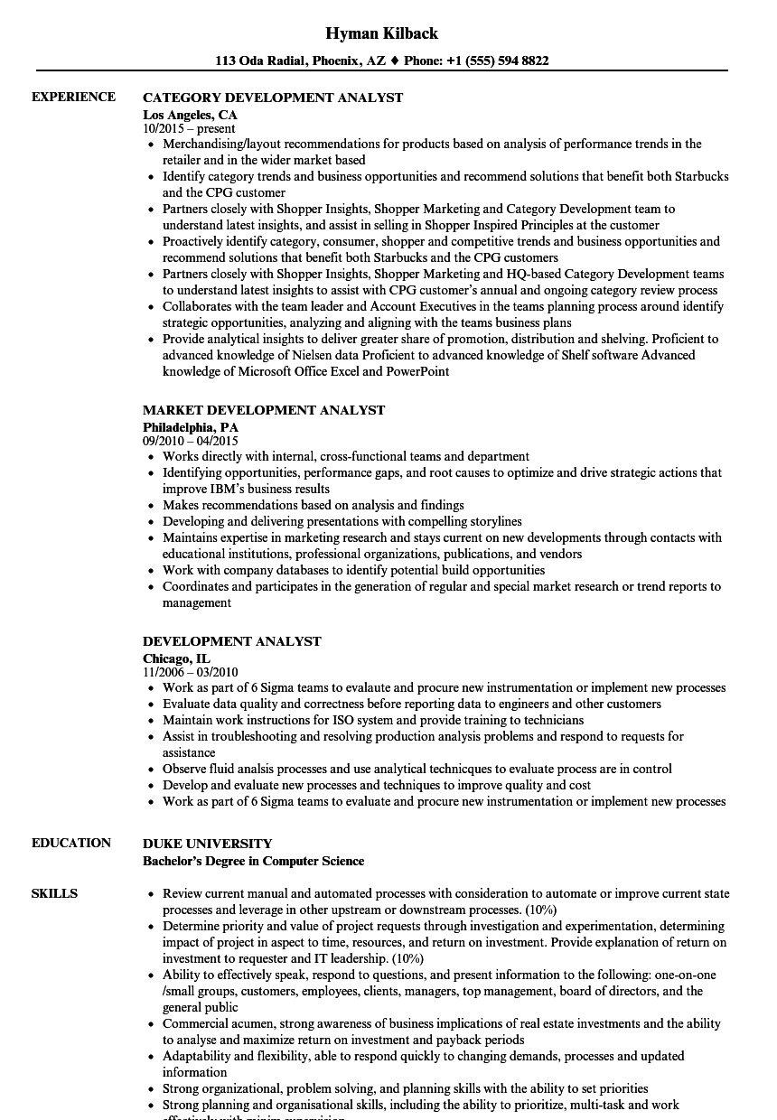 Agile Business Analyst Resume - Development Analyst Resume Samples
