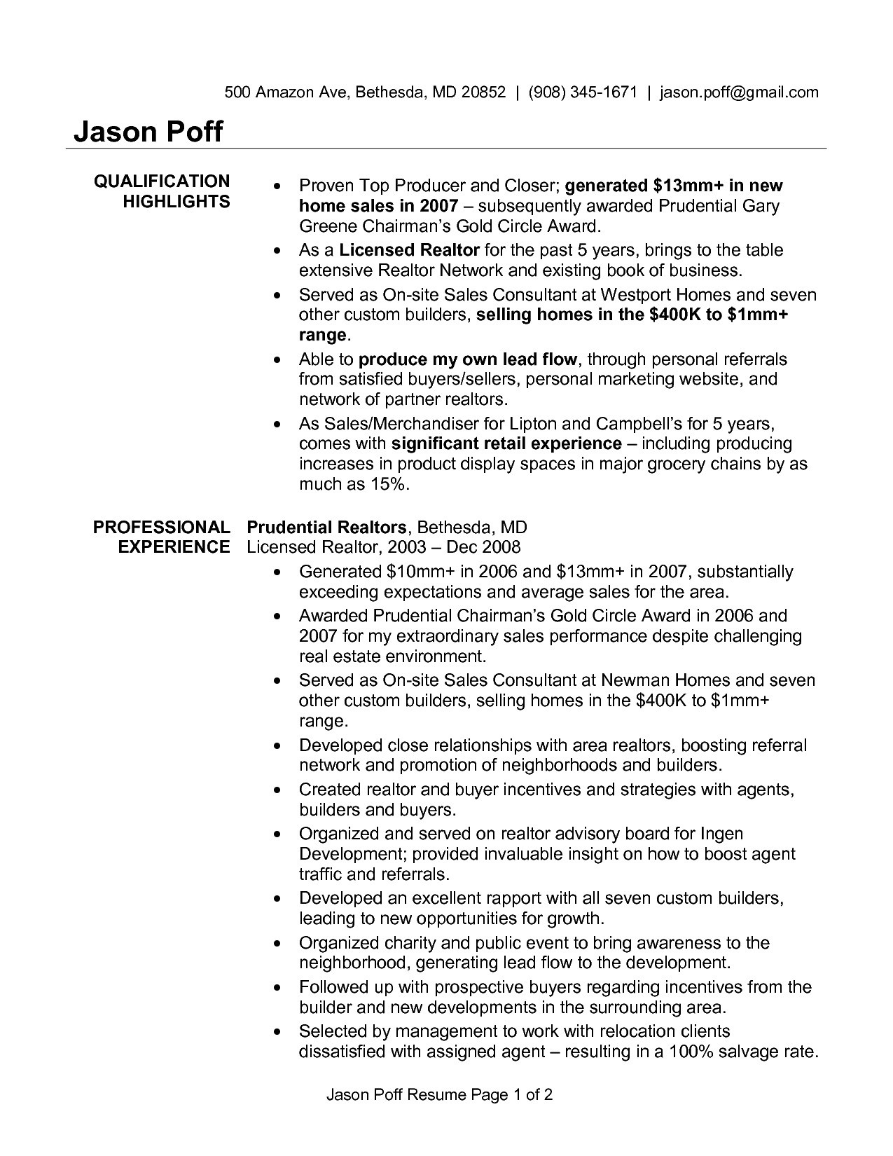 Andrew Lacivita Resume Template - 50 Best Real Estate Cover Letter