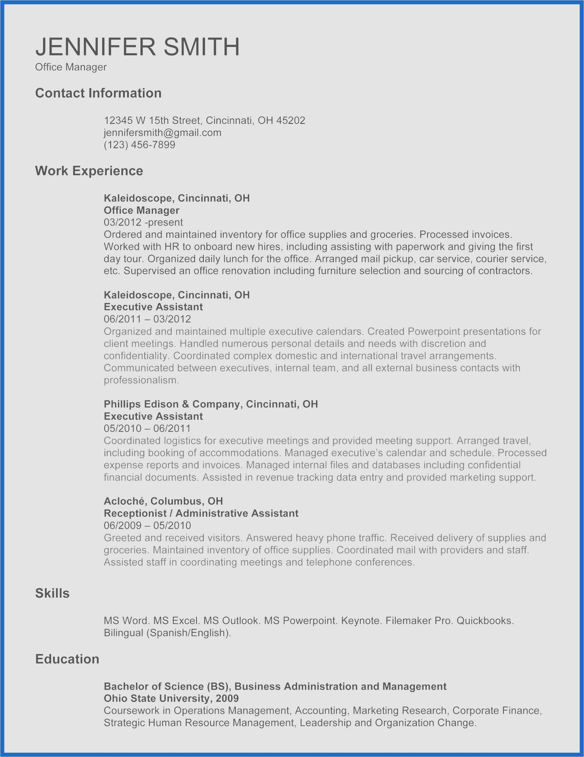 Answering Phones Resume - 28 Reference Letter Outline Example