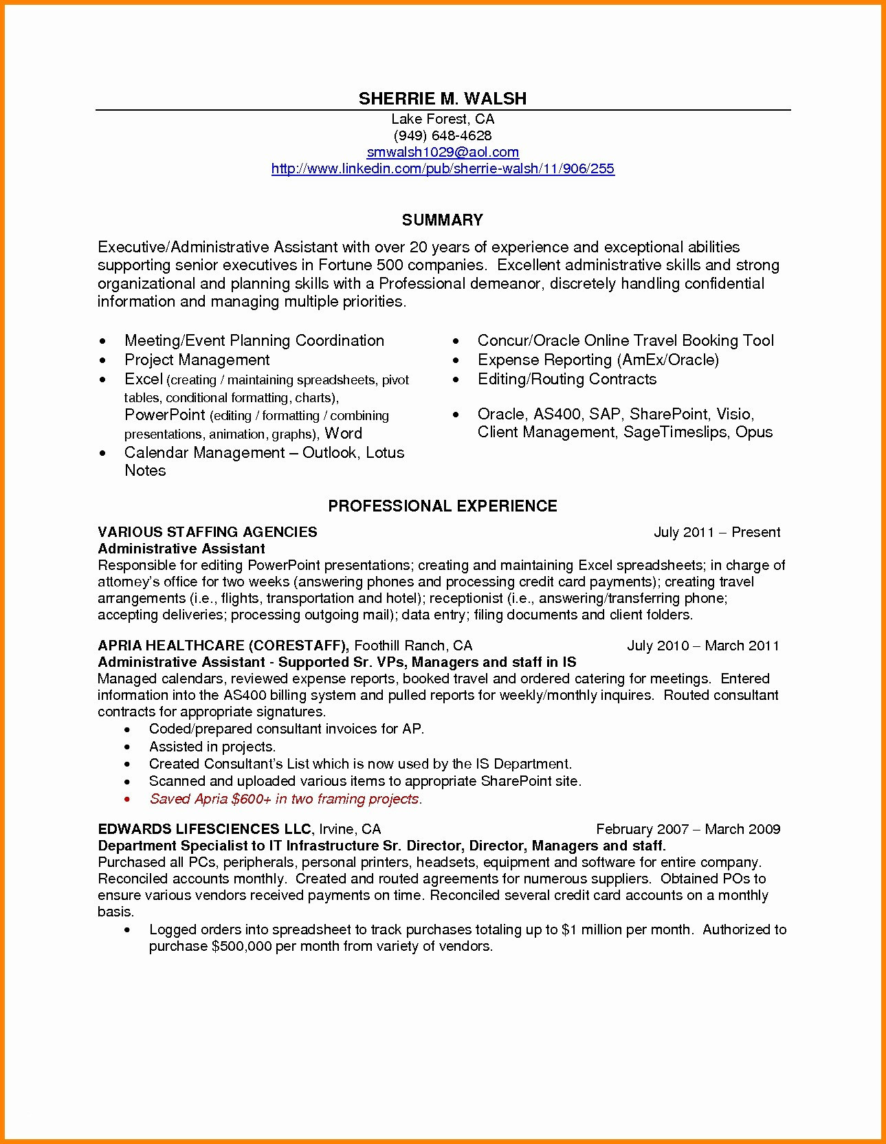 Answering Phones Resume - Awesome Table Examples Best Resume Professional Summary Examples