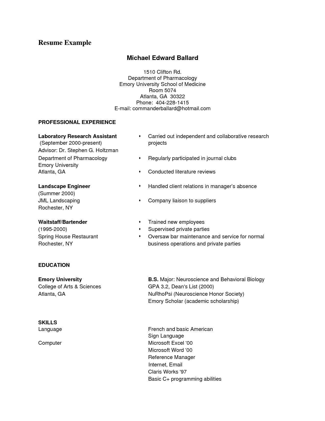 Arts Resume Template - Classic Resume Templates ¢Ë†Å¡ Powerpoint Templates for Biology New