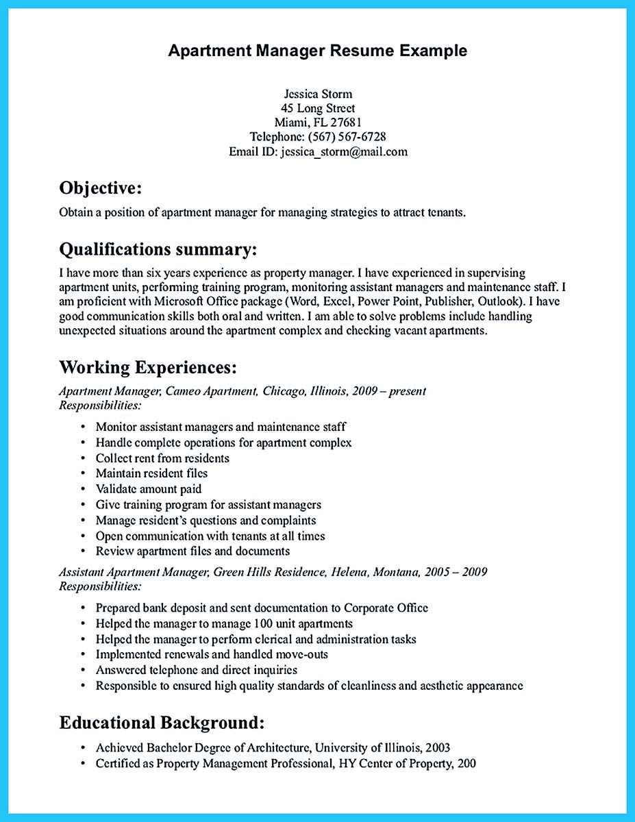 Assistant Property Manager Resume Objective - Property Manager Resume Elegant Residential Property Manager Resume