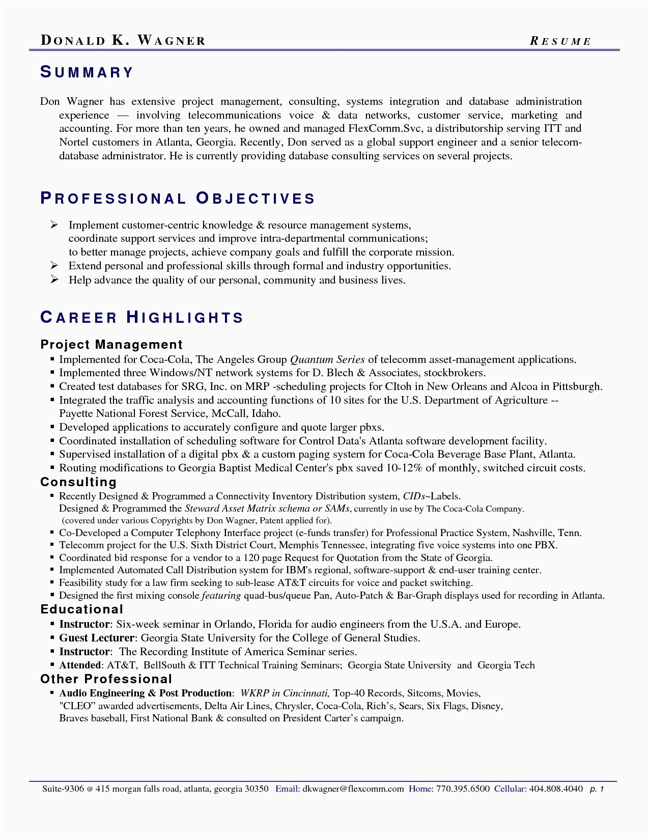 Ats Friendly Resume Template - Resume for Corporate Banking which is Monly Used Resume Insight
