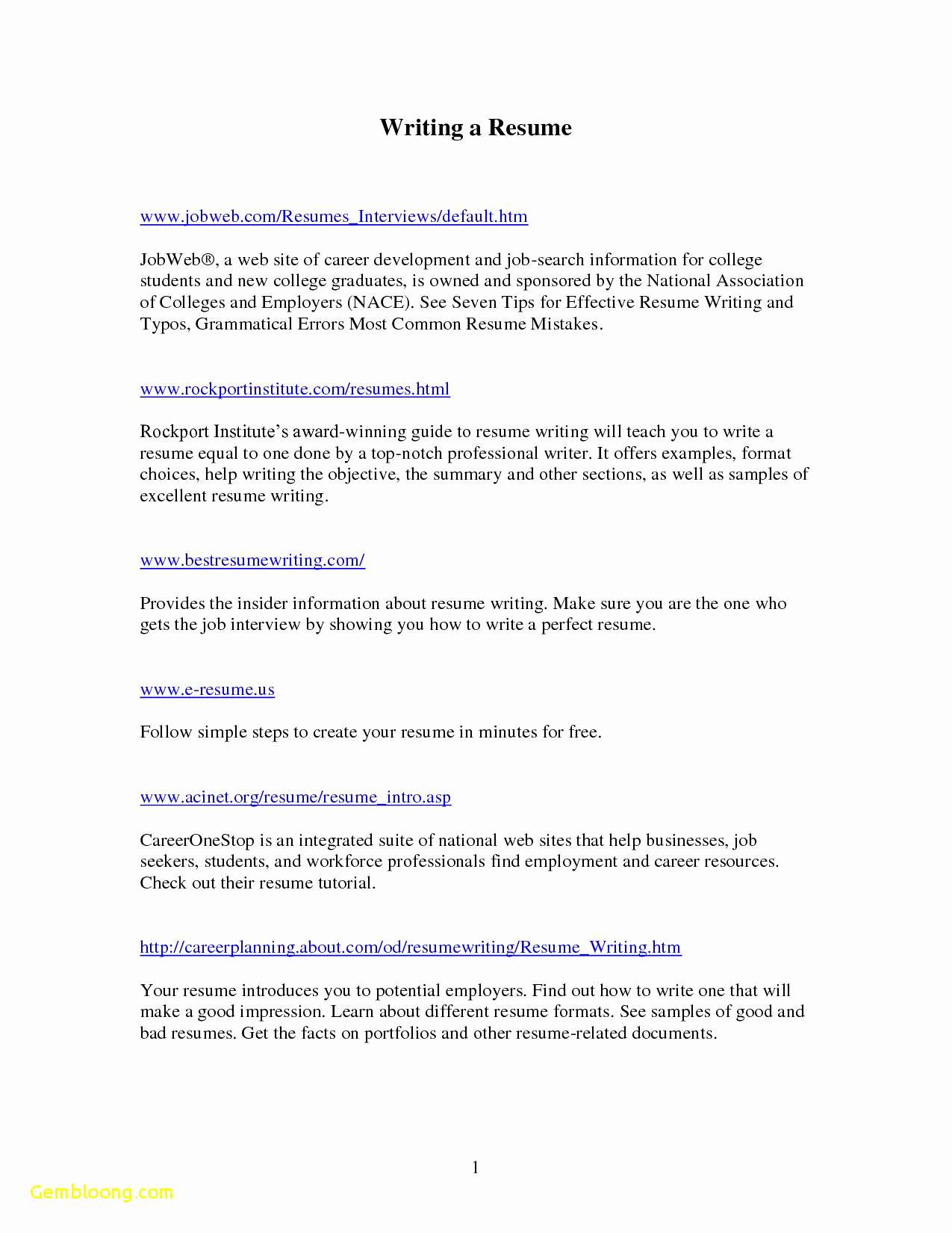 Attractive Resume Templates Free Download - Word Resume Templates – Resume Tutorial Pro