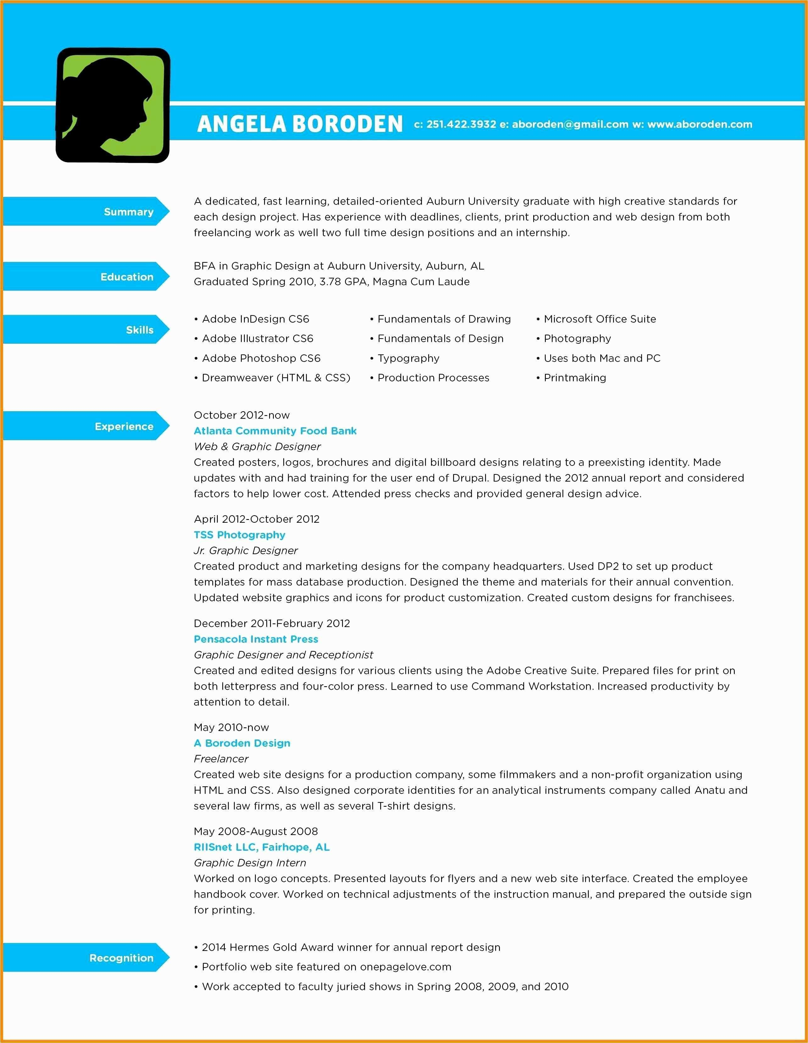 Auburn Resume Template - 34 Inspirational Cover Letter Examples for Graphic Designers