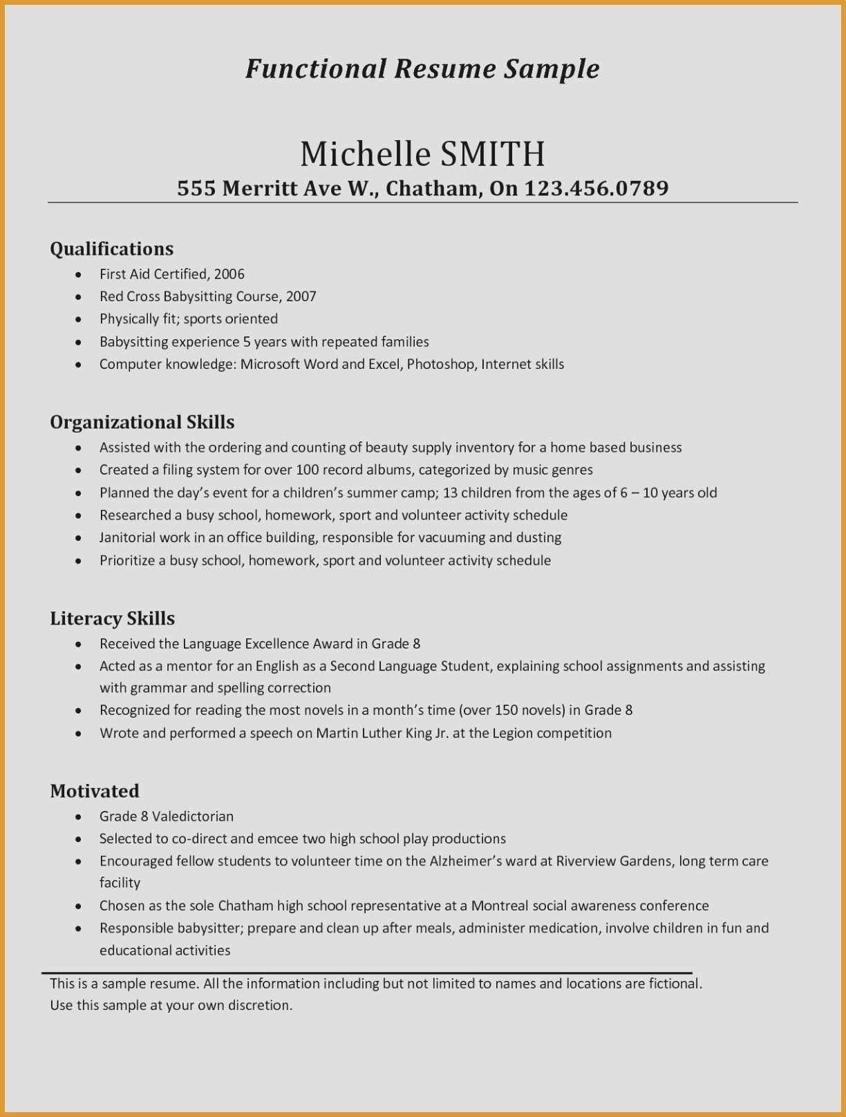 Babysitter Resume Description - 30 Inspirational Babysitter Resume Description