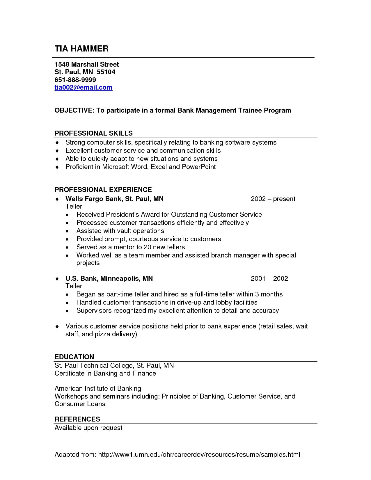 Banker Resume Template - Apa Resume Template New Examples A Resume Fresh Resume Examples 0d