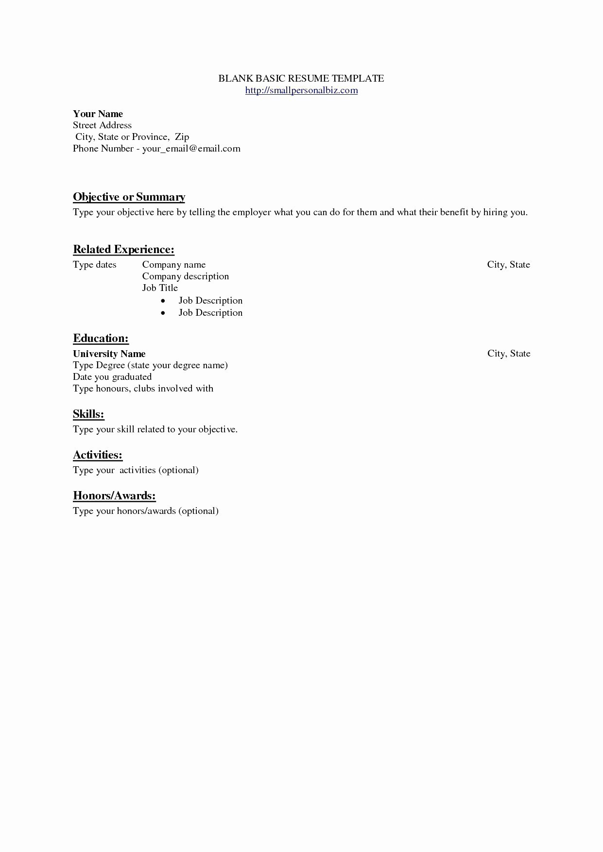 Basic Work Resume - Resume for Work Best Resumes for Jobs Awesome Fresh Examples Resumes
