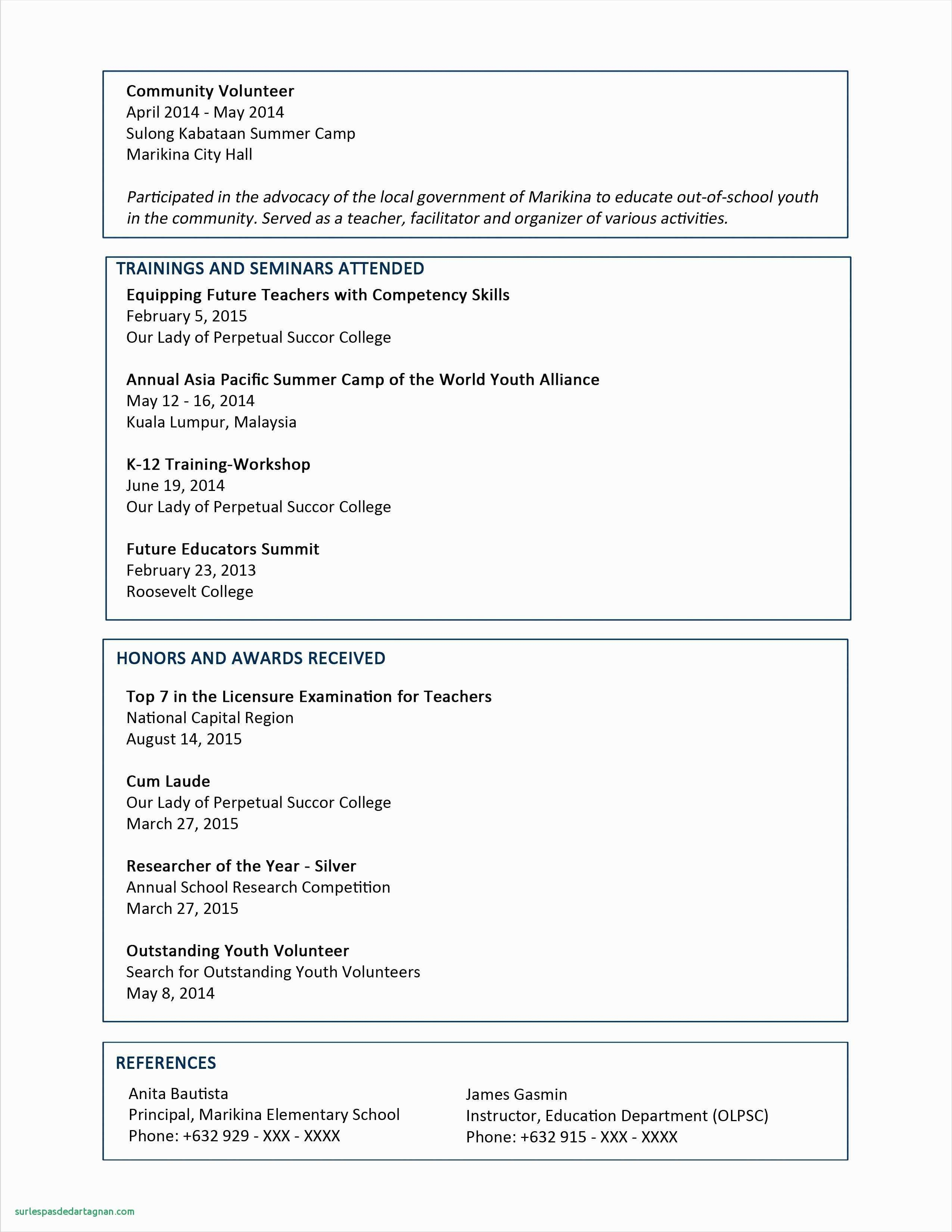 Bauer Resume Template - 18 Best Resume Template