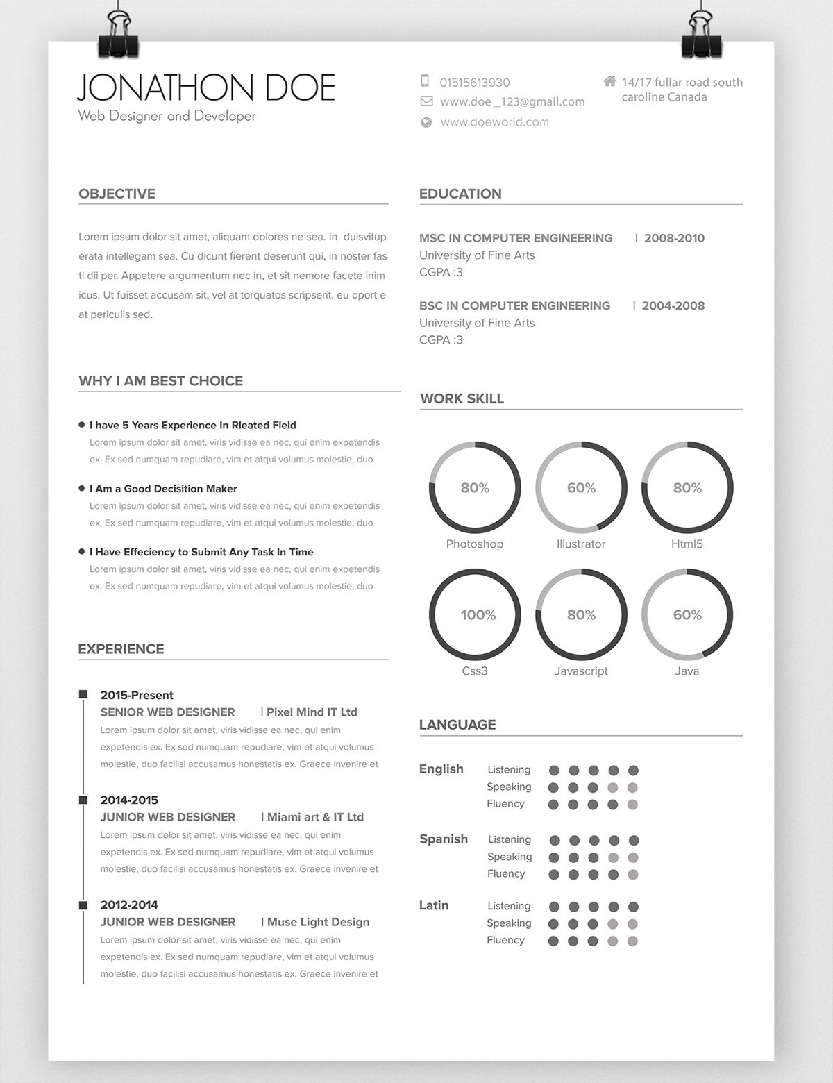 behance resume template Collection-Avada Minimal Resume on Behance 15-h