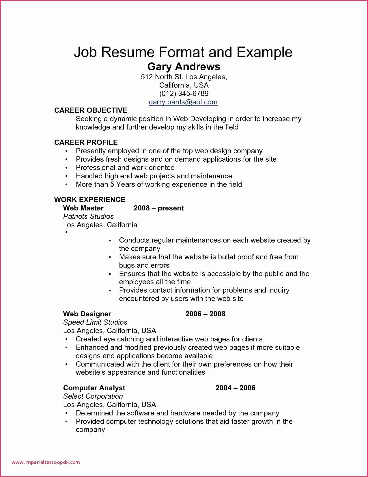 Best Profile for Resume - High Profile Resume Samples Awesome 266 Best Resume Examples