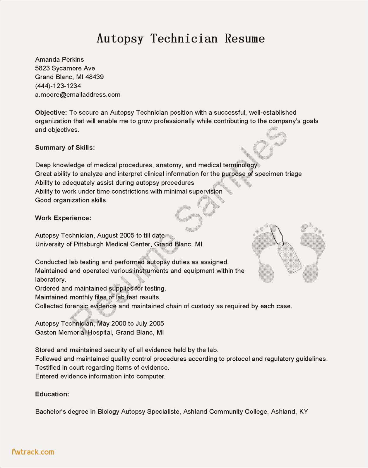 Biology Resume Template - Winning Resume Templates Fwtrack Fwtrack