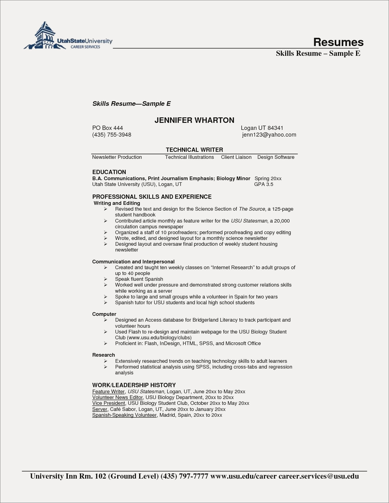 Biology Resume Template - Cheap Resumes Fresh Puter Skills Example Unique Examples Resumes