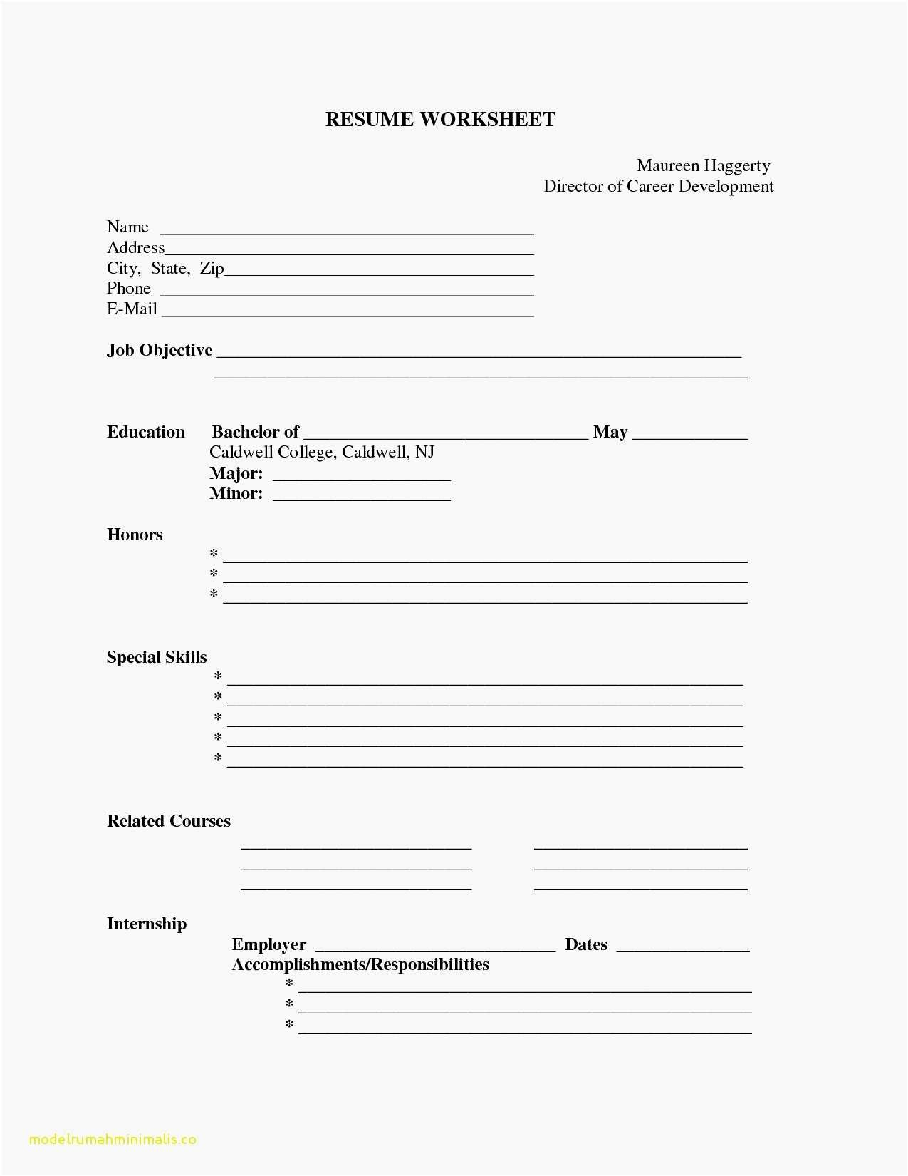 Blank Resume Pdf - Best Resume Examples Luxury Fill In the Blank Resume Resume Examples