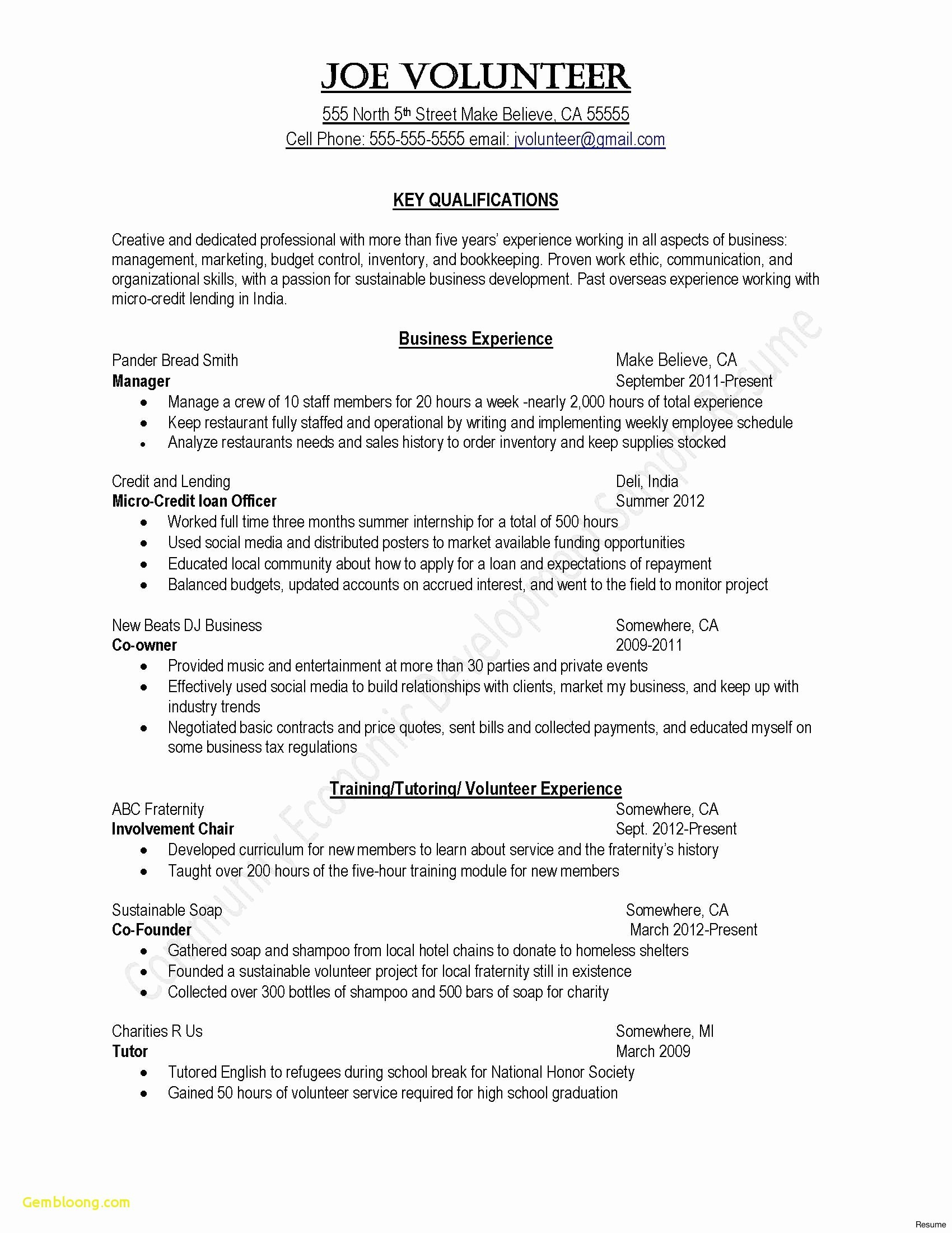 Bookkeeper Resume Sample - Example Cover Letter for Resume Awesome Sample Cover Letter for