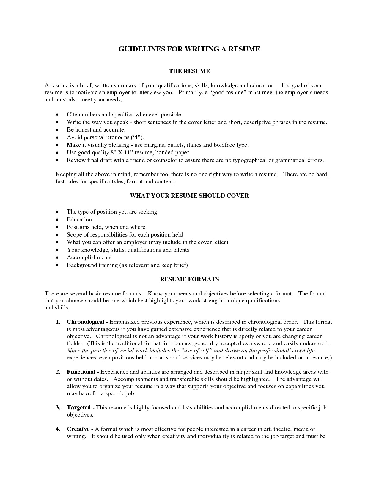 10 Brief Summary For Resume Samples