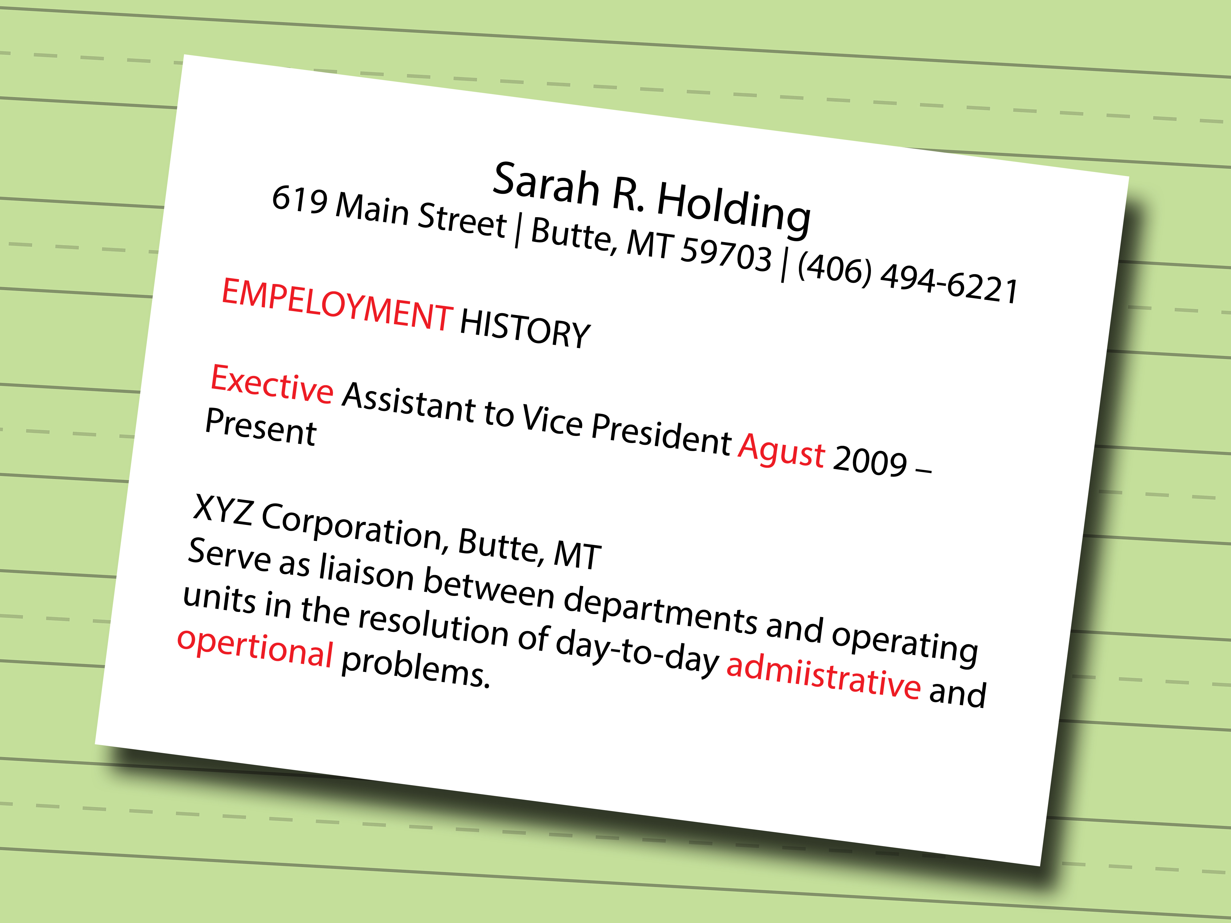 Build A Resume Online Free Download - 7 Ways to Make A Resume Wikihow