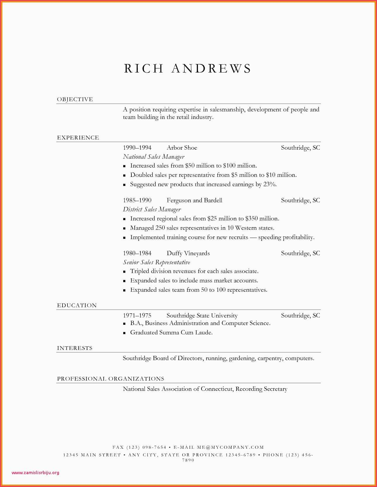 Business Administration Resume Template - 45 What to Include In A Resume Free Resume Template