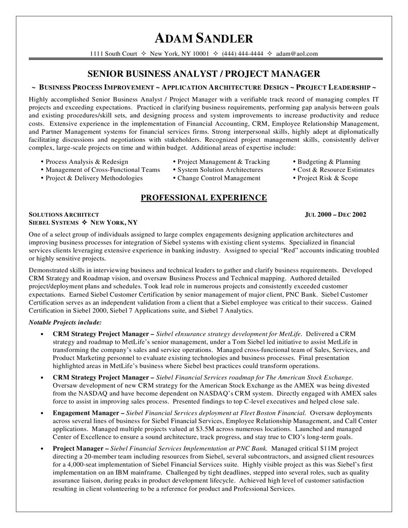 Business Analyst Resume - 20 Luxury Business Analyst Resume Examples