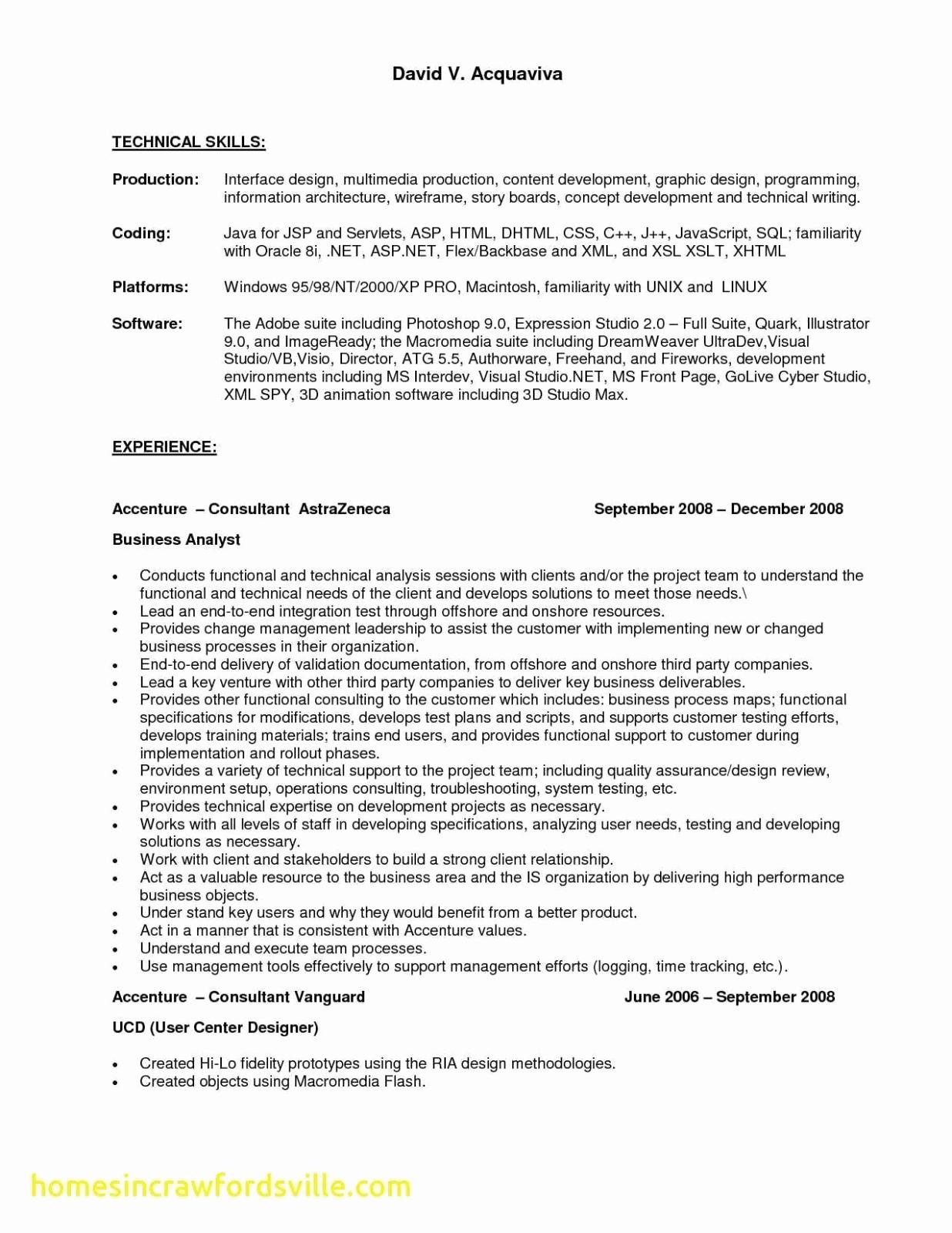 Business Analyst Resume Examples - Business Analyst Resume Samples New Business Analyst Resume