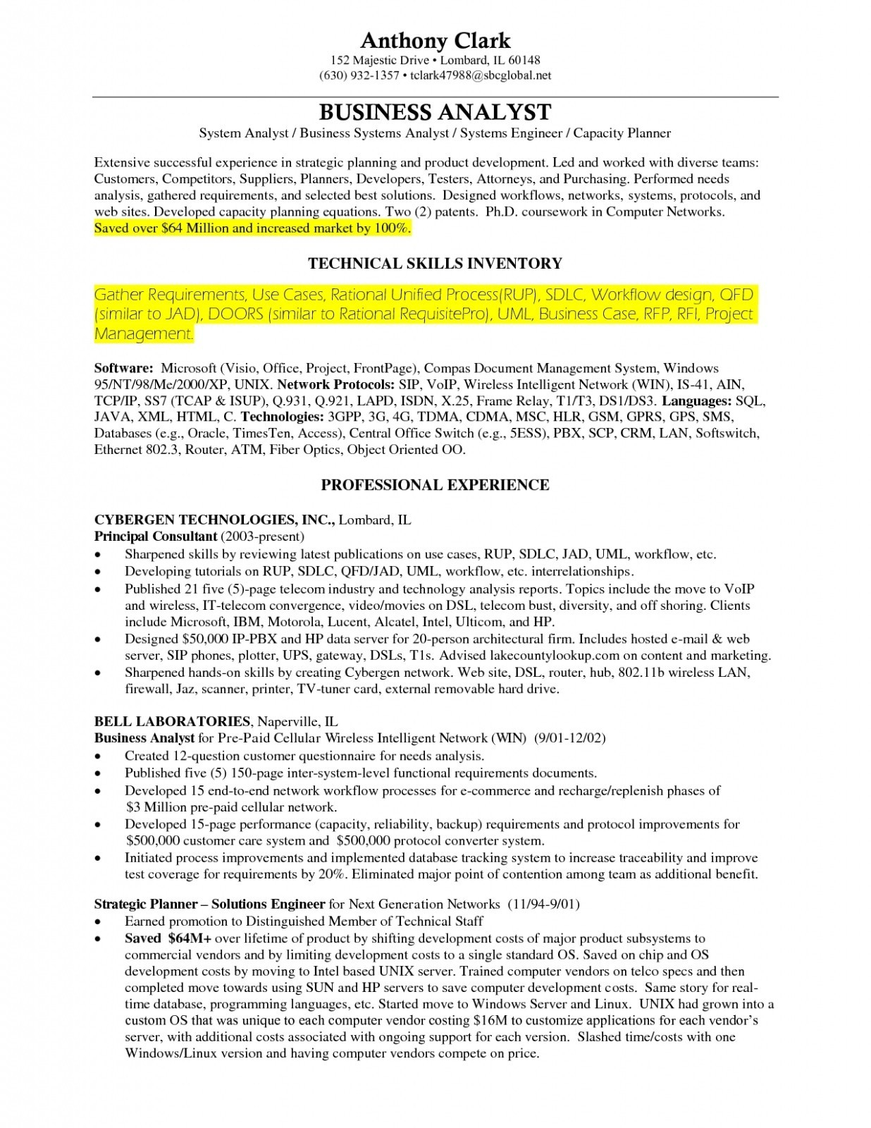 Business Analyst Resume Sample Pdf - Business Systems Analyst Resume Sample New Business Analyst Cv
