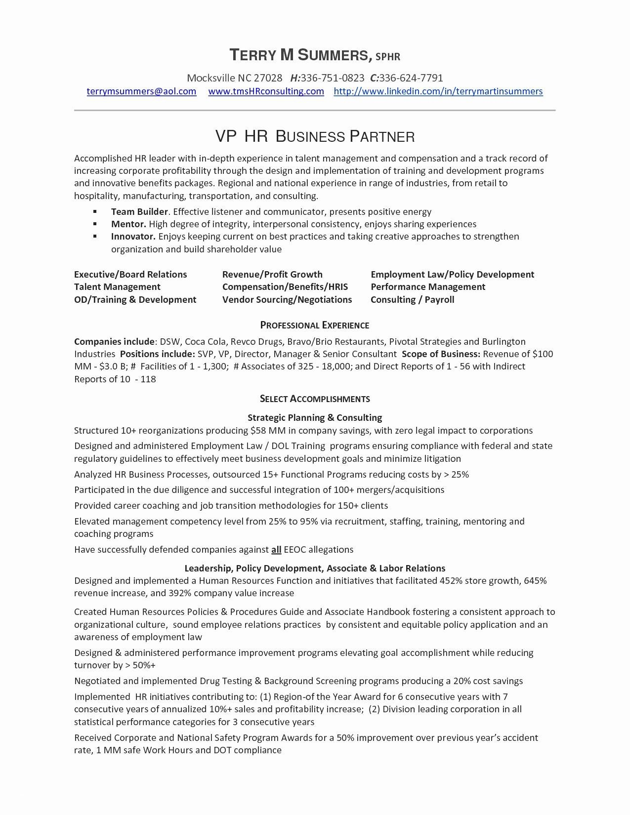 Business Development Resume Sample - Training and Development Resume Sample New Product Management Resume