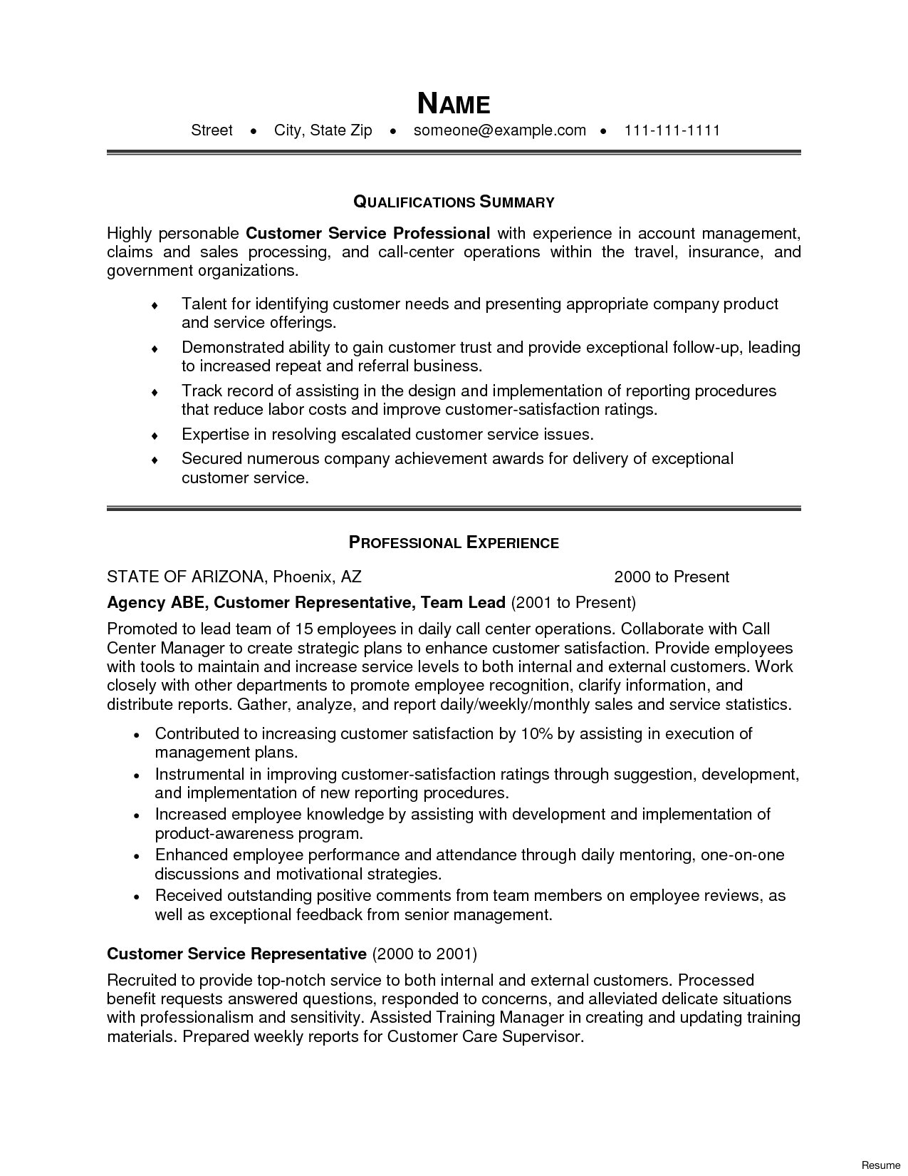 Call Center Job Description for Resume - 35 Best Call Center Resume Skills