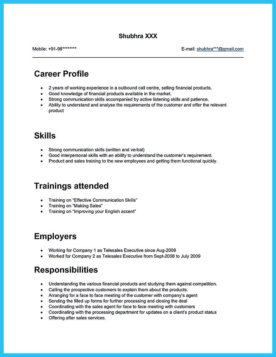 Call Center Resume Template - What Will You Do to Make the Best Call Center Resume so Many Call