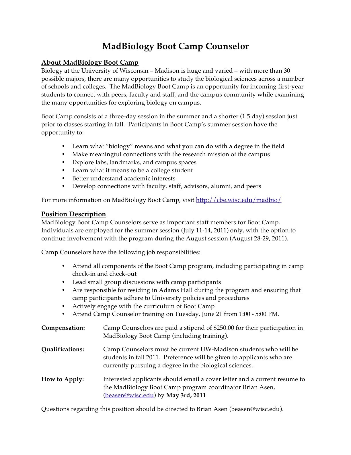 Camp Counselor Responsibilities Resume - Camp Counselor Resume Inspirational Resume Examples for Youth