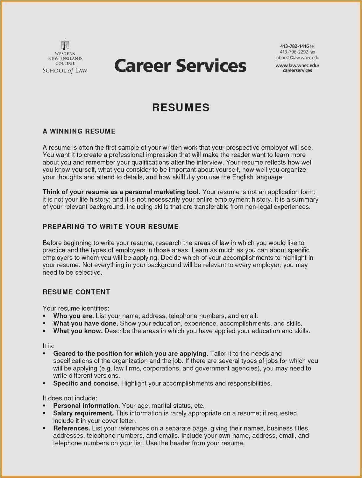 Career Center Resume - 24 Best Resume forms Picture