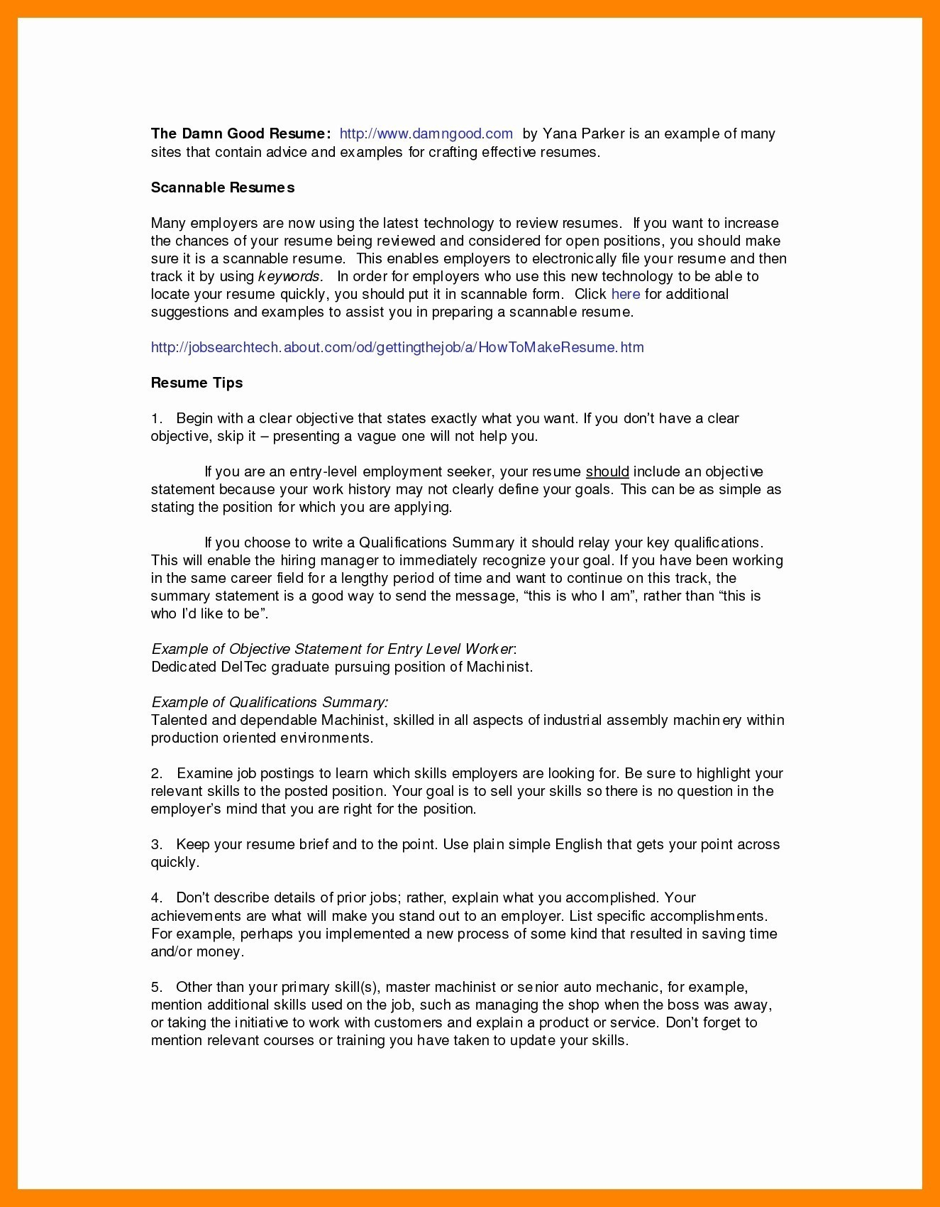 Career Change Objective Statement - Resume Summary for Career Change