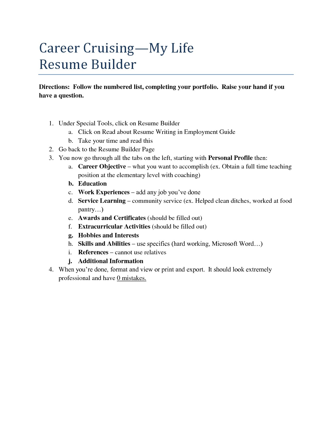Career Cruising Resume Template - Career Builder Resume Templates Cmt sonabel