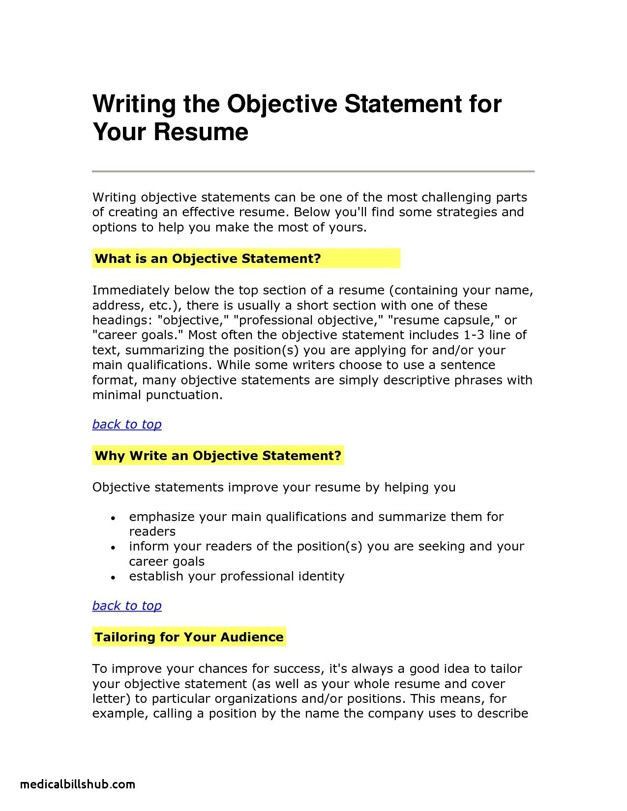 Caregiver Resume Objective Examples