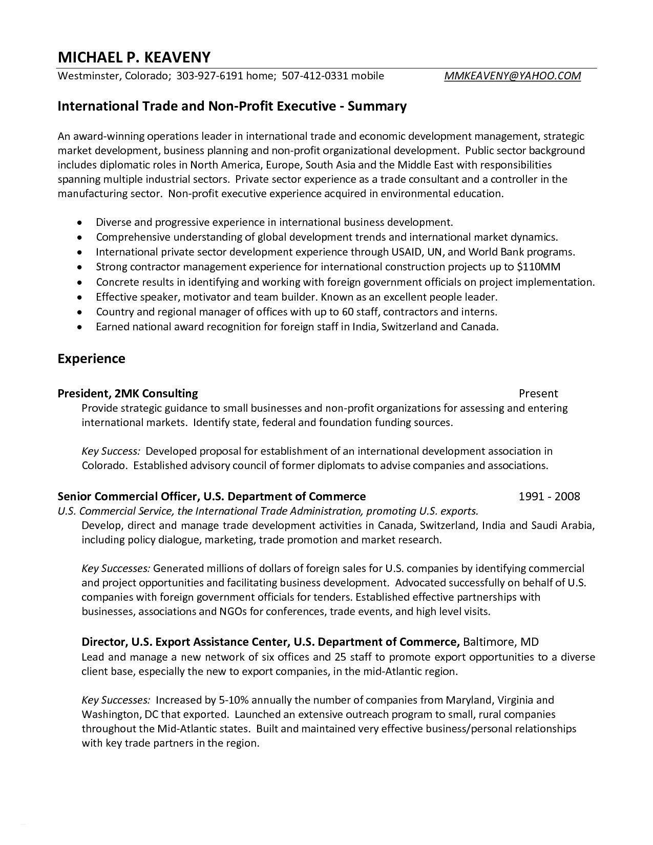 Caregiver Resume Summary - Best Resume Template for Caregiver Position