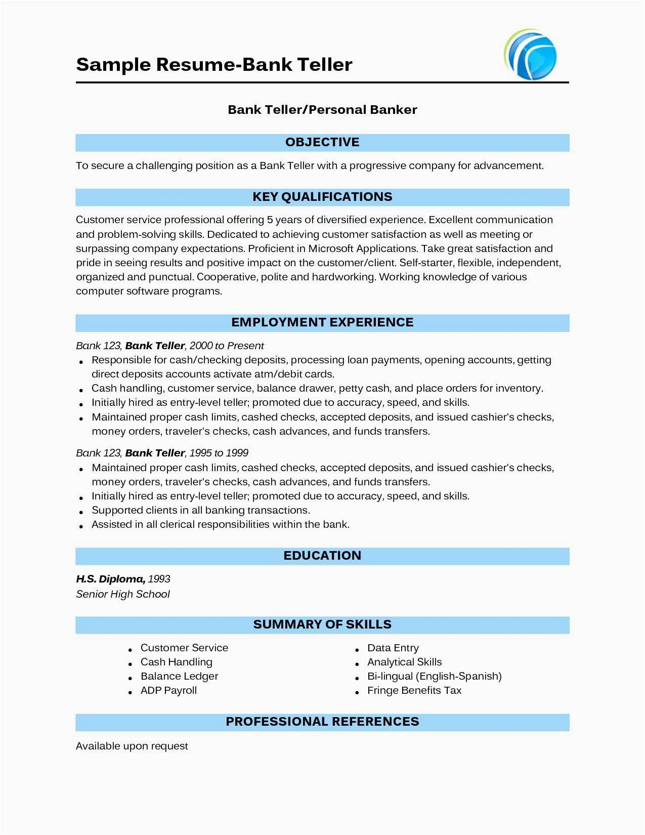 Cash Handling Resume - 26 Best Resume Builder software Gallery