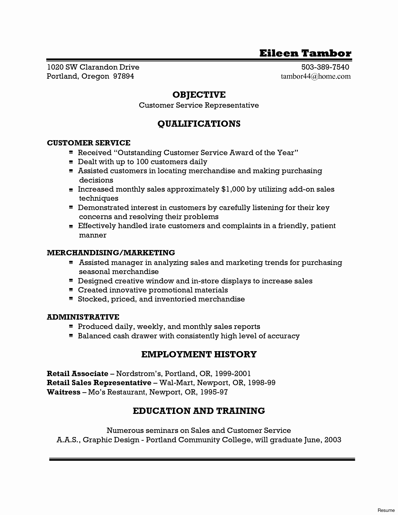 Cash Handling Resume - 30 Sales and Customer Service Resume