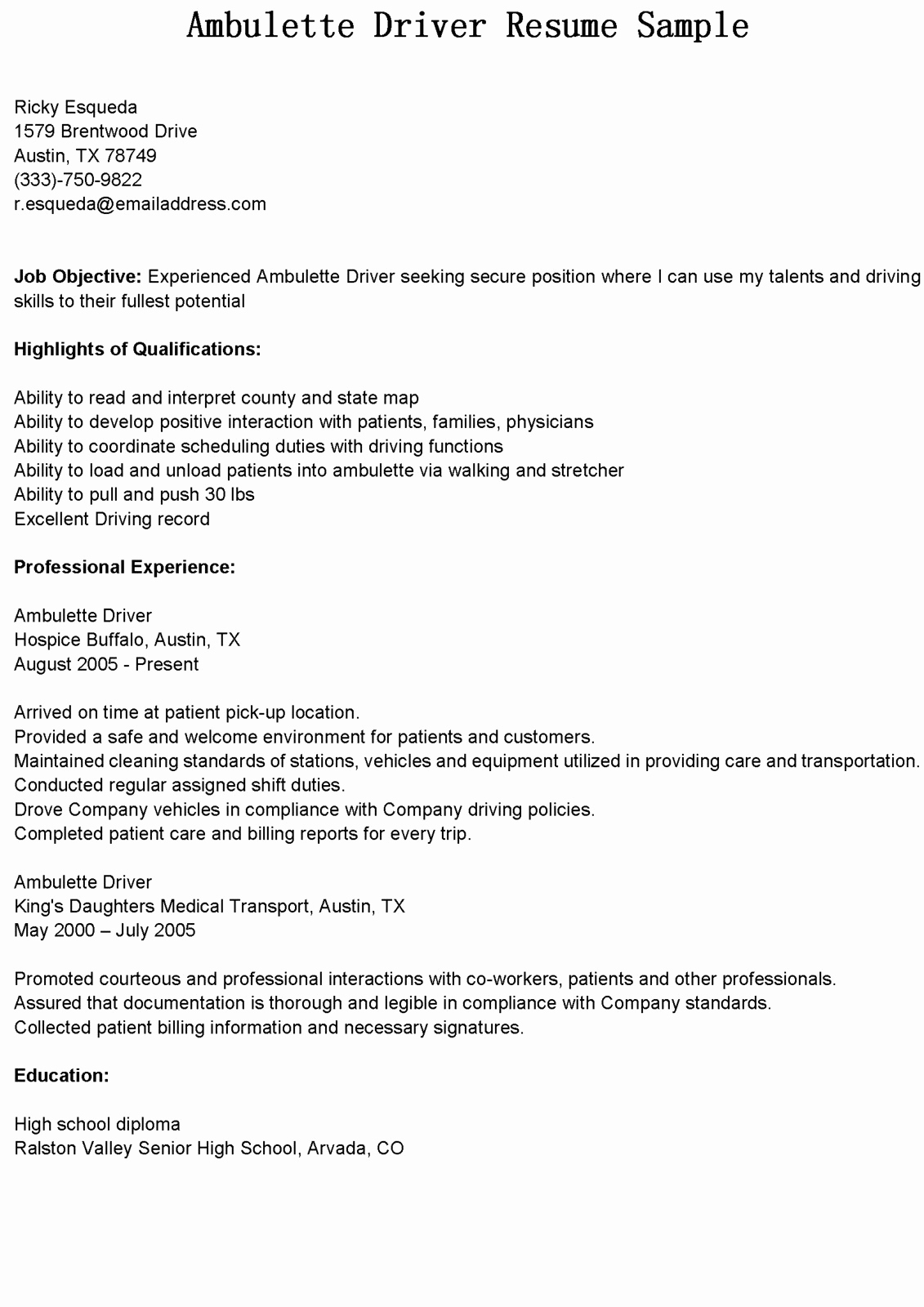 Cdl Truck Driver Job Description for Resume - Cdl Truck Driver Cover Letter Samples Truck Driving Resume Unique